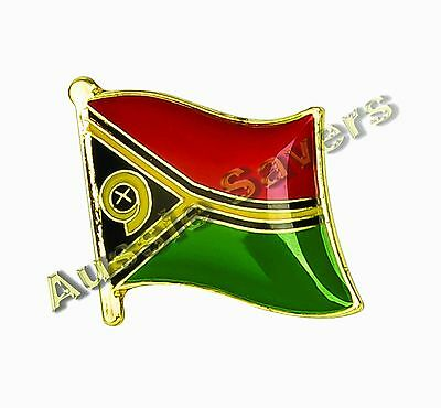 Vanuatu Flag Hat Pin / Badge - Brand New