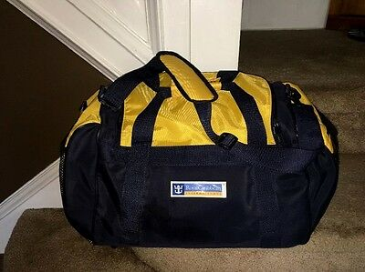 Royal Carribean Travel Day Tour Gym Overnight Duffle Bag Blue Yellow Cruise Line