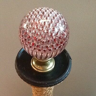 """Fine French Newel Post Finial Red Honeycomb. """"boule D'escalier"""""""