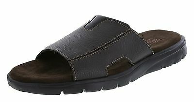 Men's Brown Leather & Suede Slides Sandals Mules ~ Size 13 ~ New With Tags