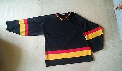 NHL Vancouver Canucks Ice Hockey Jersey - Black Retro. Athletic Knit. Mens Large
