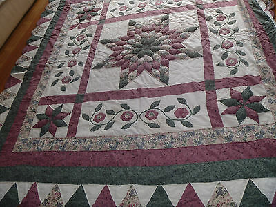 Vintage Quilted patch work bed cover