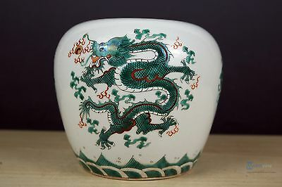 Fine Beautiful Chinese Famille Rose porcelain Dragon Pot