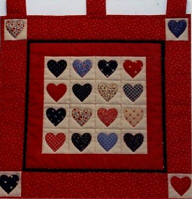 Heart with Red Border Quilt Wallhanging Kit