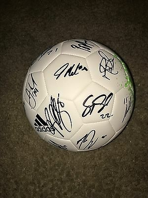 Sporting Kansas City MLS Team Autographed Adidas Soccer Ball 2017