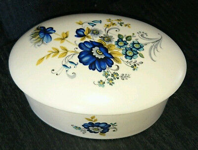 Purbeck Pottery Swanage Oval Lidded Trinket Box