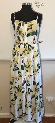 Junk Maxi Dress, White, Size 12, Brand New with tags