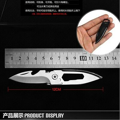 Small folding pocket hunting camping fishing survival knife