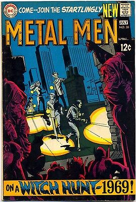 METAL MEN #38 1969 FN- DC Comics DEMONS Coven Of Seven WITCHES