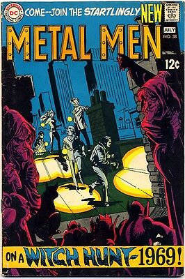 "METAL MEN #38 1969 VG/FN DC Comics ""Witch Hunt 1969"" LAST 12¢ ISSUE"