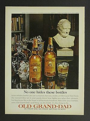 Vintage 1965 Old Grand-Dad Kentucky Bourbon Whiskey Magazine Ad!!!!!!!!!