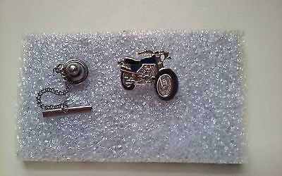 Vintage - BSA Motorcycle - Chain Lapel Pin - Motorcycles - Excellent - England