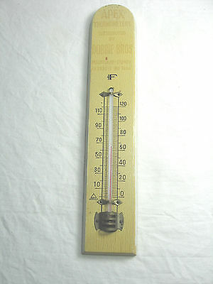 Vintage APEX Advertising Wooden Thermometer