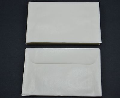 """lot of 50 # 2 GLASSINE ENVELOPES 2 5/16 x 3 5/8"""" GUARDHOUSE STAMP COLLECTING NEW"""
