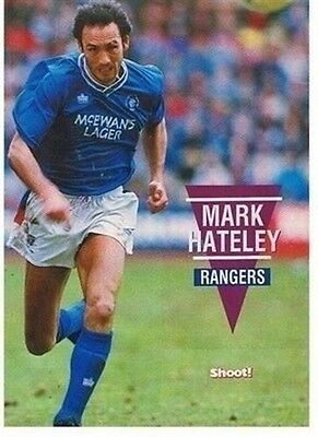 SHOOT Glasgow Rangers MARK HATELEY football magazine player picture / poster