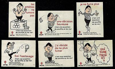 Canada 1971 Quebec Christmas-TB Seals - 6 different - Green # 336
