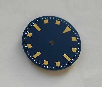 Sterile Blue Snowflake Snow Flake Watch Dial ETA 2824 2836 Yellow Superluminova
