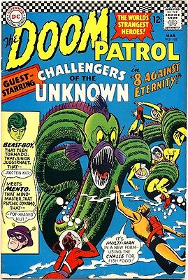 DOOM PATROL #102 1966 VF- DC Comics CHALLENGERS OF THE UNKNOWN Beast Boy