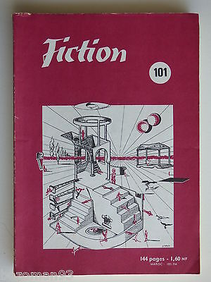 FICTION n° 101 AVRIL 1962 COVER  IZABELLE  W.ALDISS - YOUNG - MERRIL - BROWN