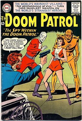DOOM PATROL #90 1964 FN+ DC Comics MADAME ROUGE Becomes SUPER POWERED