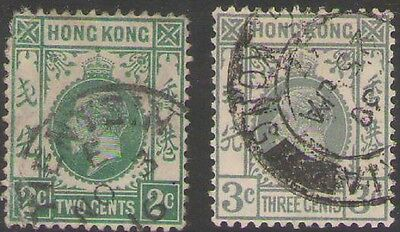 Lot 2055 - Hong Kong – Used selection of 2 King George V stamps