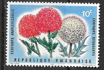 10c Republic Rwanda stamp - shows flowers - see scan