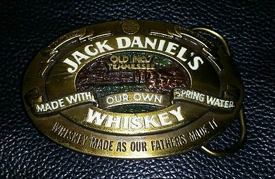 Rare Collectable Vintage Jack Daniels Old No 7 Tennessee Whisky Belt Buckle