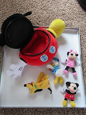 Mickey mouse clubhouse with small soft mickey charectors, preschool, Disney