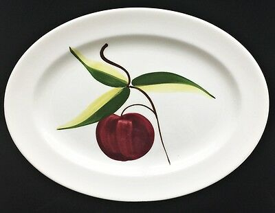"HERITAGE WARE Apple Platter 11 1/2"" Hand Painted Vintage Collectible Tableware"