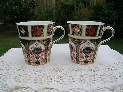 Royal Crown Derby Old Imari 1128 Pair of Mugs 1st Quality.