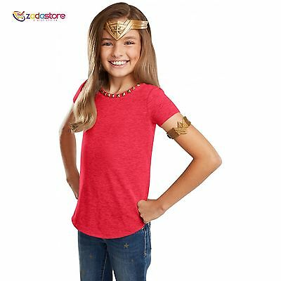 DC Comics Wonder Woman Headdress Arm Band,Super Hreo, Child Doll, Gift, Toy