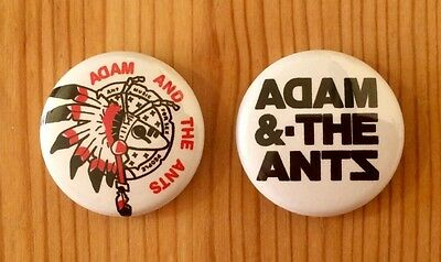 Adam And The Ants - Set Of 2 Button Pin Badges