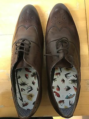 Genuine Ted Baker Men's Brown Brogue Leather Shoes UK11 US12