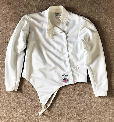 """Leon Paul Men's right handed 350N 46"""" chest fencing jacket and 800N 40 plastron"""