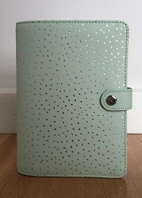 Kikki K Thrive Sage Green Medium Leather Personal Planner Diary NEW-FREE INSERTS