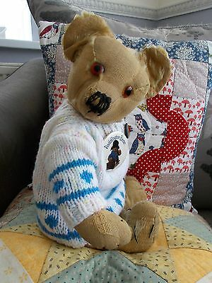 """Charlie"" - Lovely Old/Antique 16"" Merrythought?? Bear"