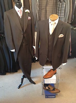 Job Lot Mens/ Boys Brown Herringbone Tailcoats And Suit Jackets With Trousers,