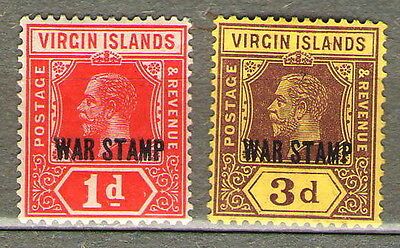 St. Kitts-Nevis. Overprinteds stamps colonies of the United Kingdom, 1916-1918.