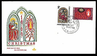 1969 Christmas Full Set Decimal Stamps Royal First Day Cover #69.4