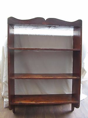 Country Kitchen Open Shelf Unit Vintage / Antique Pine Wall Hanging Display