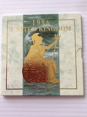 brilliant uncirculated coin collection UK 1996 w Euro 96 £2 coin