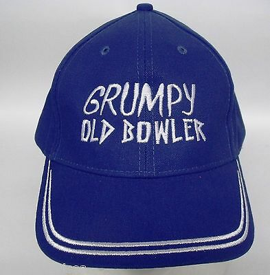 Grumpy Old Bowler Embroidered Cotton Cap For That SPECIAL Grumpy  Father's Day ?