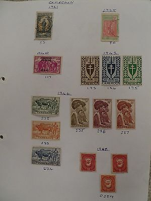 Cameroon  collection of  24 stamps