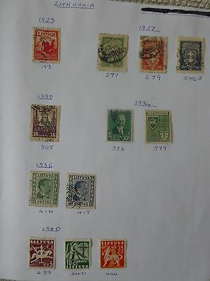 Lithuania collection of 12 stamps