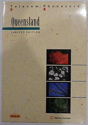 1990 Telstra Telecom Queensland Limited edition Pack 3 Phonecards MINT