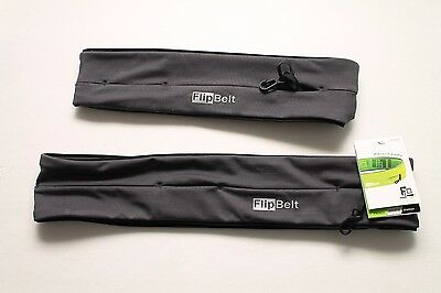 FlipBelt Classic Running Belt - 2 Pack - XL and Small - New - Carbon Color NWT
