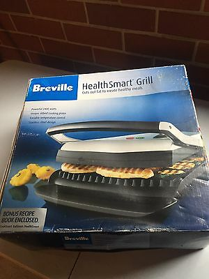 Breville Contact Health Smart Grill Sandwich Press Maker Non Stick Plate