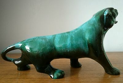 Superb Blue Mountain Pottery Cougar Tiger