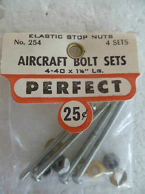 """Perfect Brand, Engine Bolt Sets 1 1/2""""new In Sealed Pack,suit Control Line Plane"""
