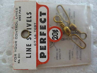Perfect Brand,large  Line Swivels, New In Sealed Pack, Suit Control Line Plane
